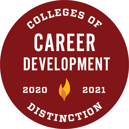 2020-2021 Career Development Colleges of Distinction logo