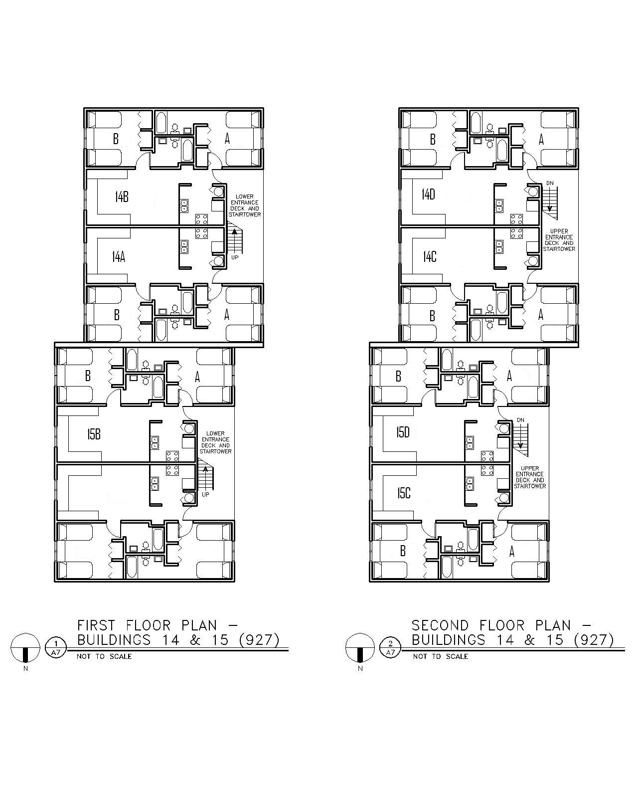 Floor Plan for Buildings 14 & 15