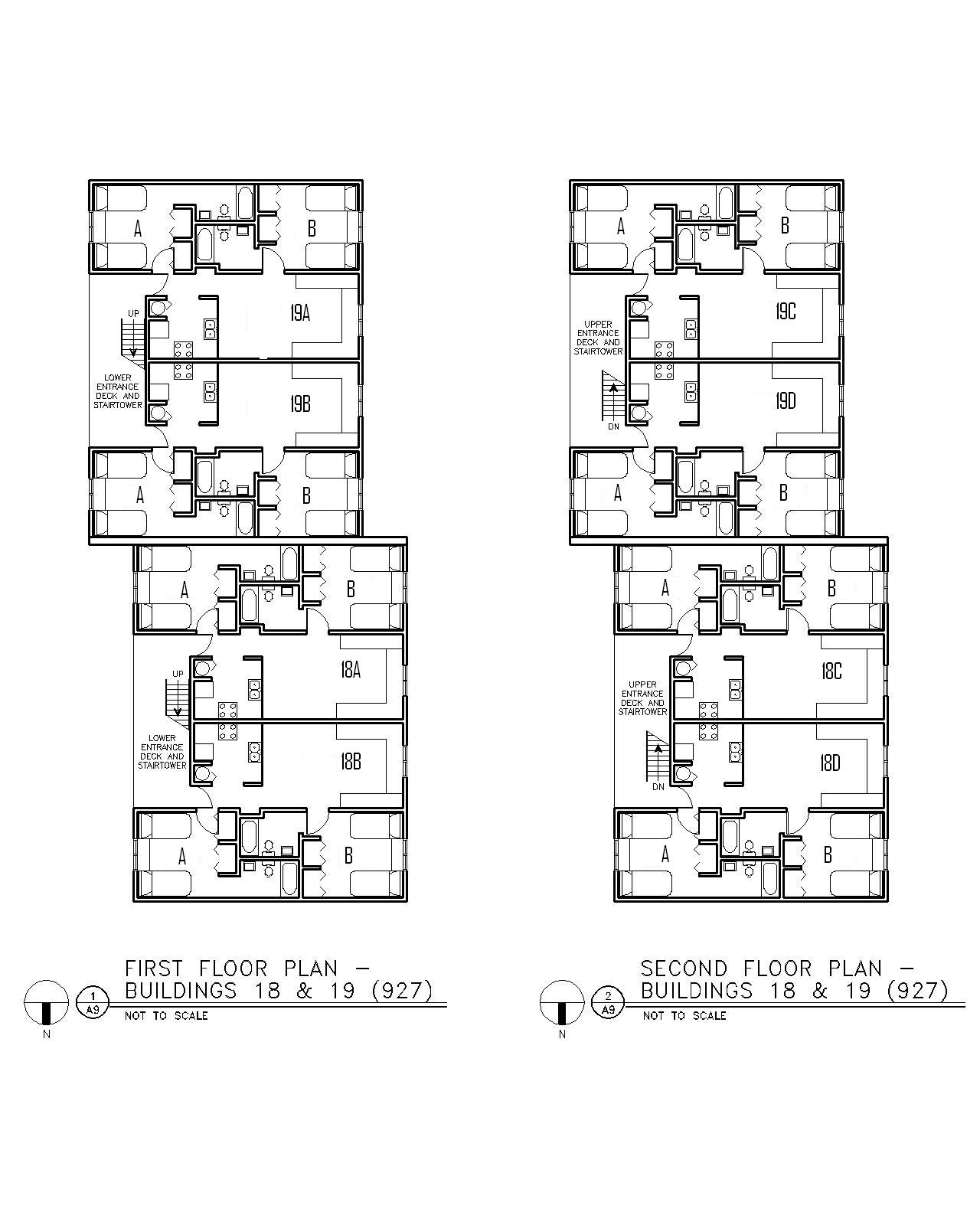 Floor Plan for Buildings 18 & 19