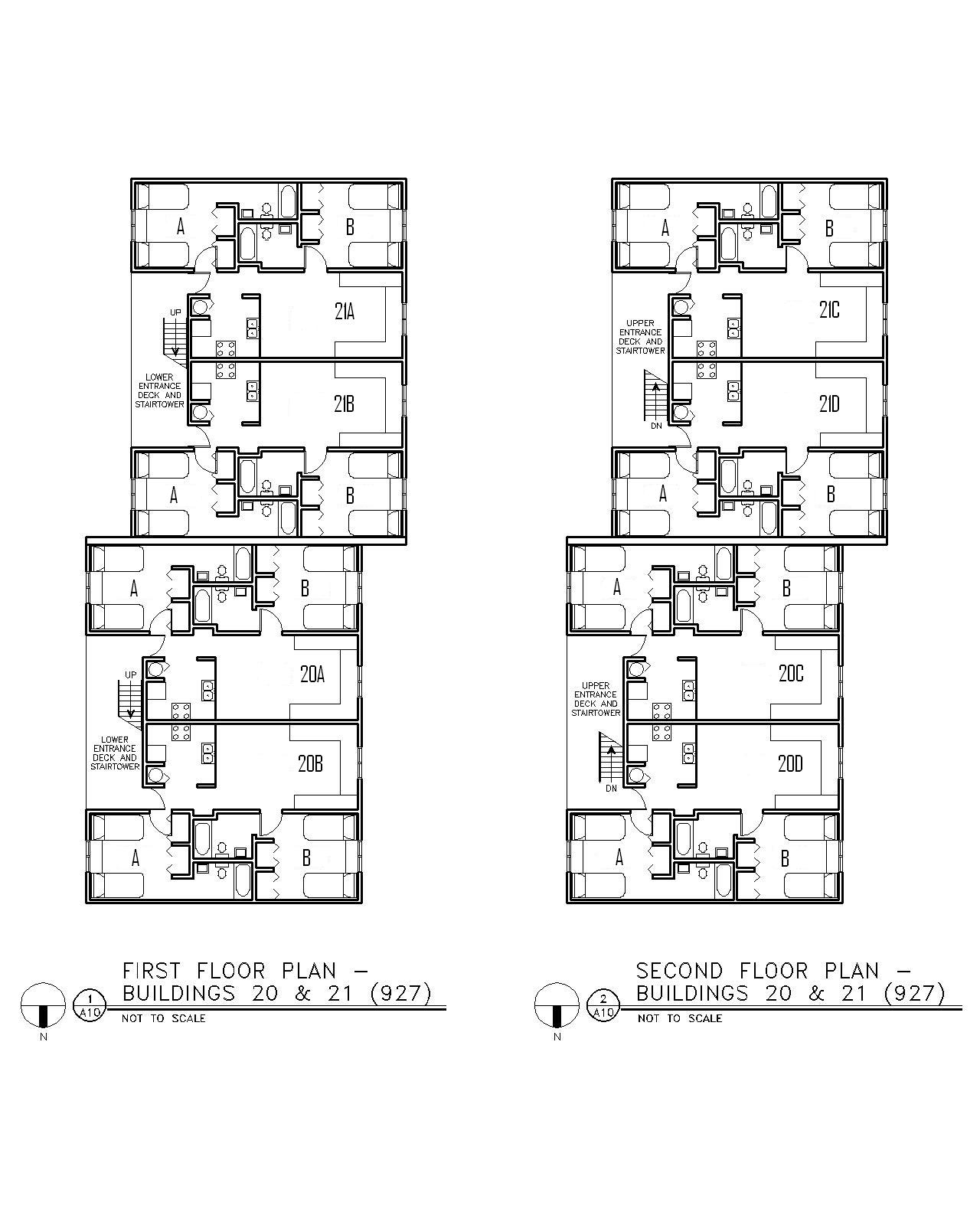 Floor Plan for Buildings 20 & 21