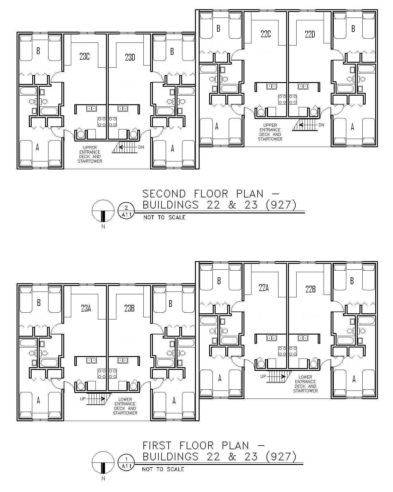 Floor Plan for Buildings 22 & 23