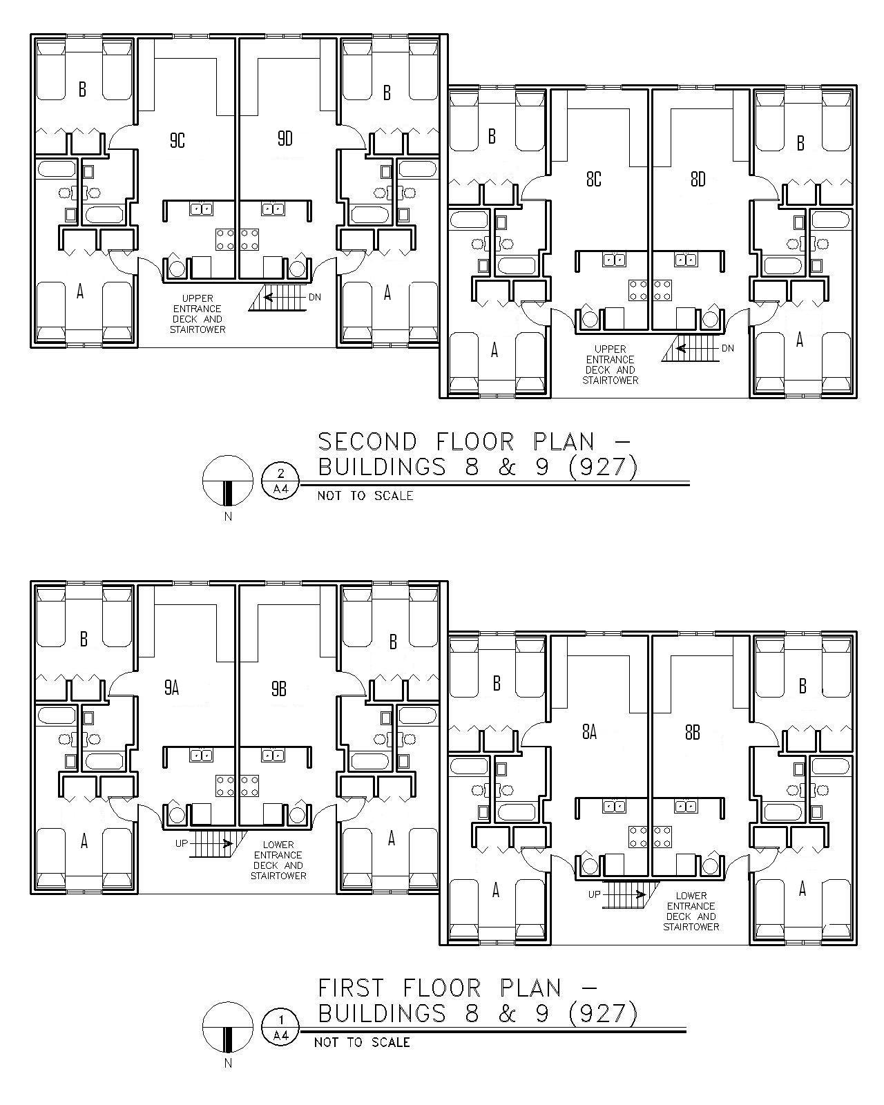 Floor Plan for Buildings 8 & 9