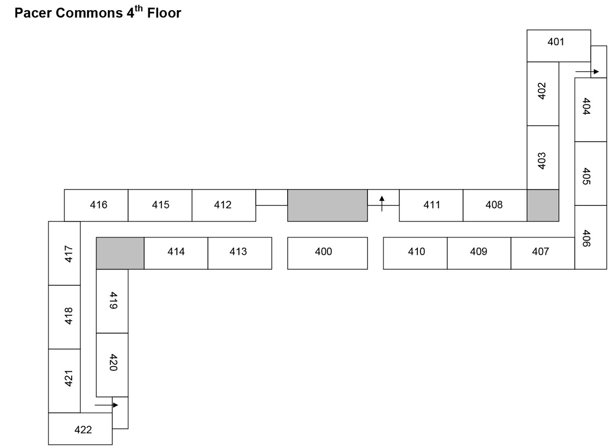 Pacer Commons Floorplan 4th Floor Exits