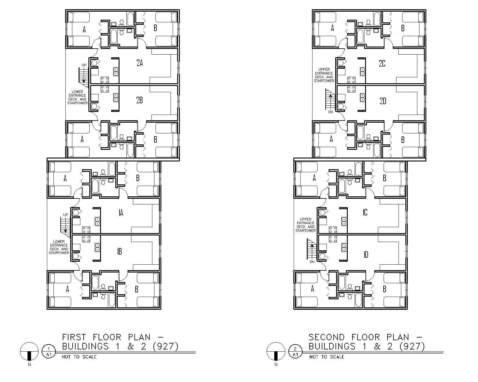 Floor Plan for Buildings 1 & 2